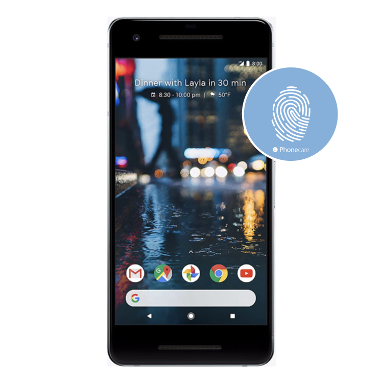 Austausch Fingerabdrucksensor / Fingerprint / Touch ID Google Pixel 2 (G011A )