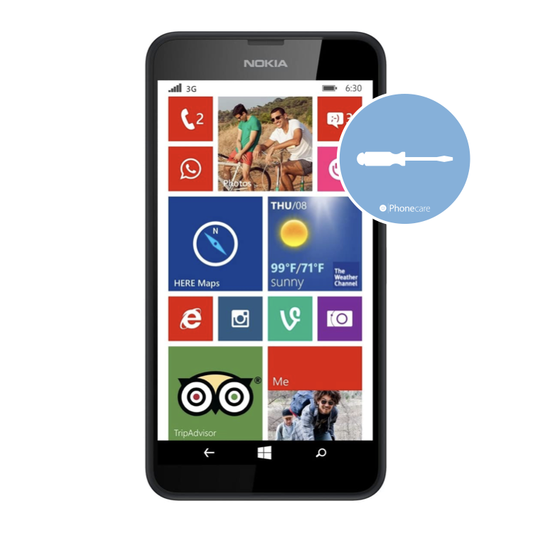 Austausch Powerbutton/Laut-Leiser Taste Lumia 630