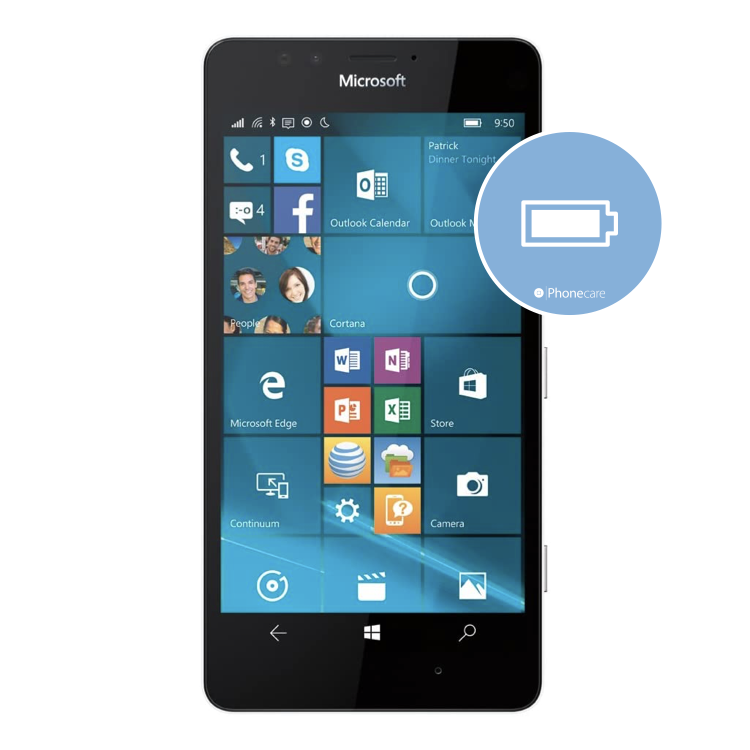 Austausch Akku Microsoft Lumia 950