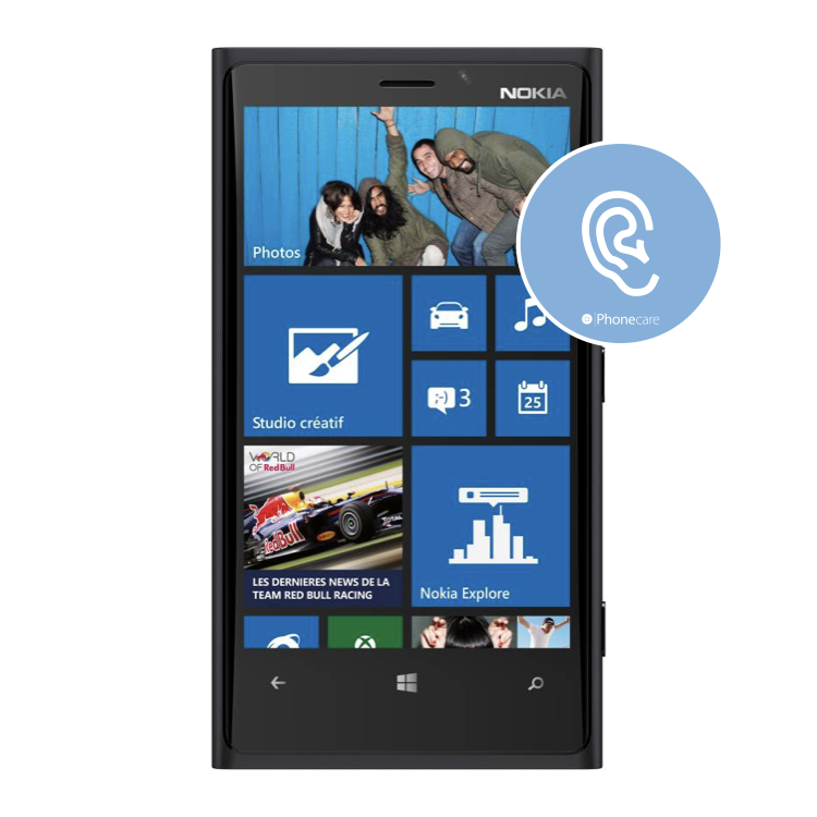 Austausch Hörer Nokia Lumia 920