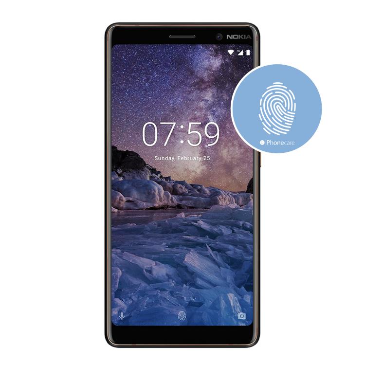 Austausch Fingerabdrucksensor / Fingerprint / Touch ID Nokia 7 Plus