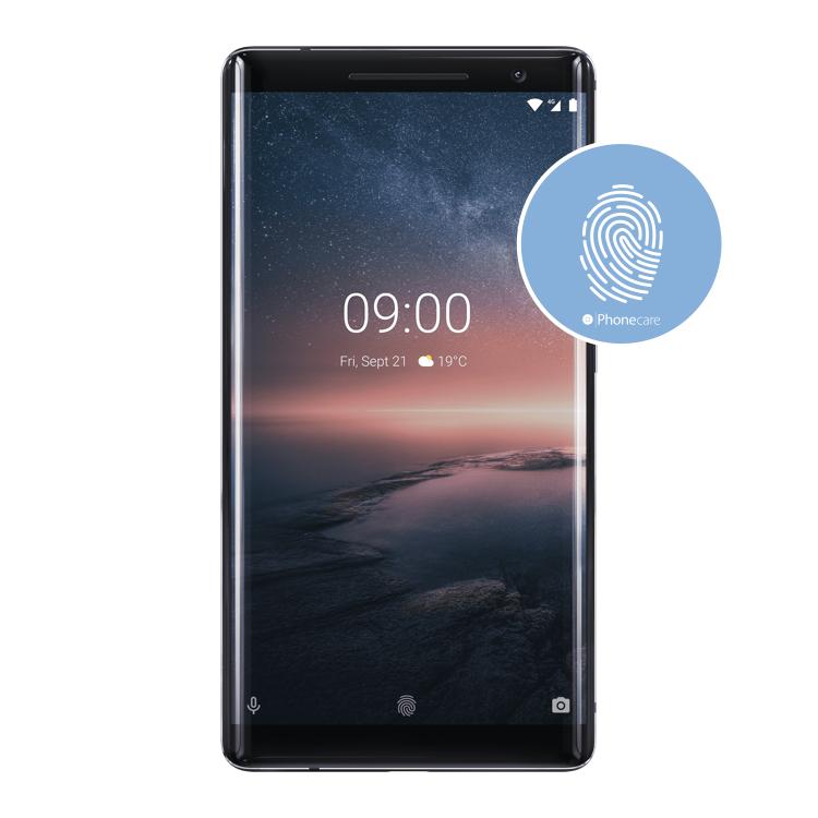 Austausch Fingerabdrucksensor / Fingerprint / Touch ID Nokia 8 Sirocco