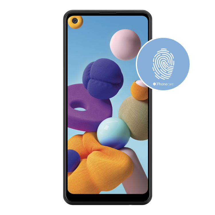 Austausch Fingerabdrucksensor / Fingerprint / Touch ID Samsung Galaxy A21s A217F