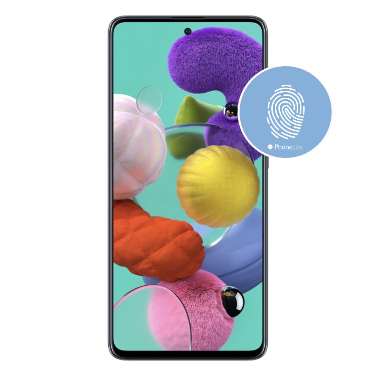 Austausch Fingerabdrucksensor / Fingerprint / Touch ID Samsung Galaxy A51 A515F