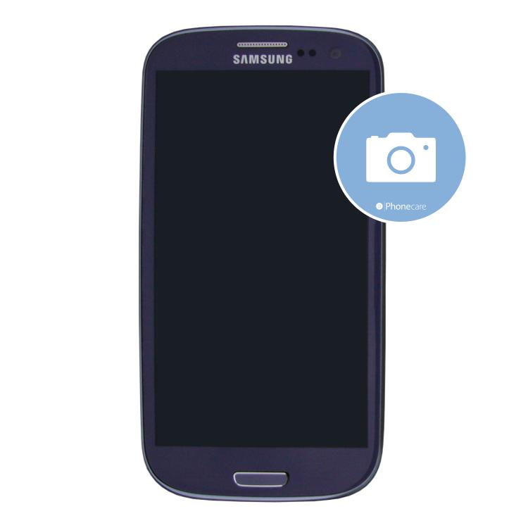 Austausch Mittelrahmen (mit Kameraglas) Samsung Galaxy i9300 S3